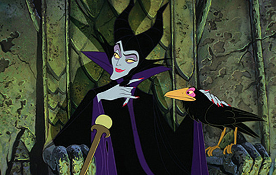 MALEFICENT -- SLEEPING BEAUTY (1959)Speaking of ravens, Disney's animated sorceress Maleficent is fond of her pet squawker, and also partial to high, pointy collars -- the sartorial mark of any good villainess. Angelina Jolie has long been rumored to play the role in the mooted live-action version.