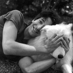 Adrien Brody with a cute doggie