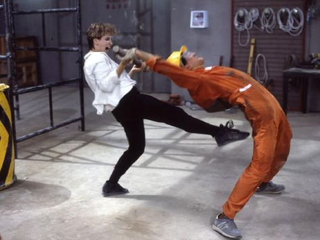 Cynthia Rothrock in Righting Wrongs (1986) (aka Above the Law)