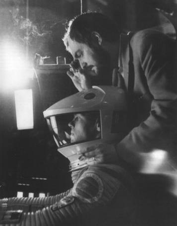Kubrick on the set of '2001'