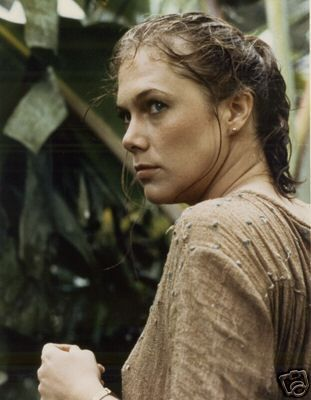 Kathleen Turner in Romancing the Stone