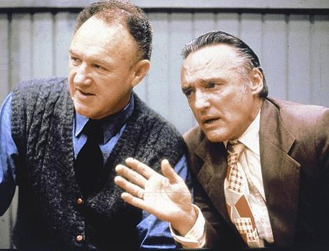 Dennis Hopper &amp; Gene Hackman in 'Hoosiers' (1986).