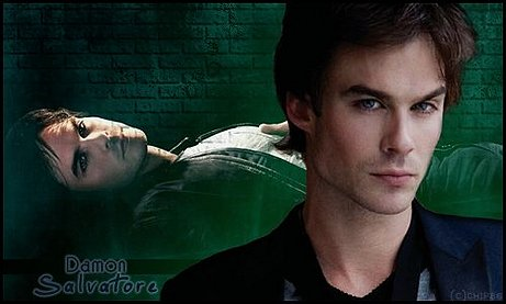 Ian Somerhalder  Green Damon Background