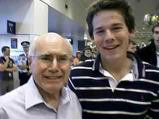 My best friend with John Howard (I hate Howard by the way)