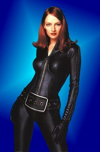 Uma Thurman Leather