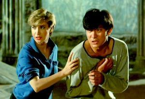 Cynthia Rothrock and Andy Lau