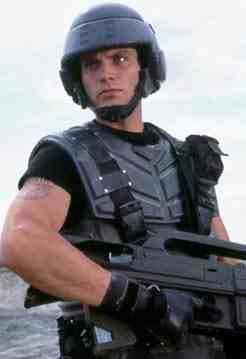 Casper Van Dien as Johnny Rico in Starship Troopers