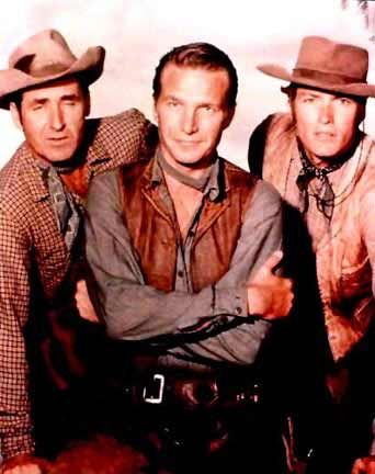 Sheb Wooley, Eric Fleming and Clint Eastwood