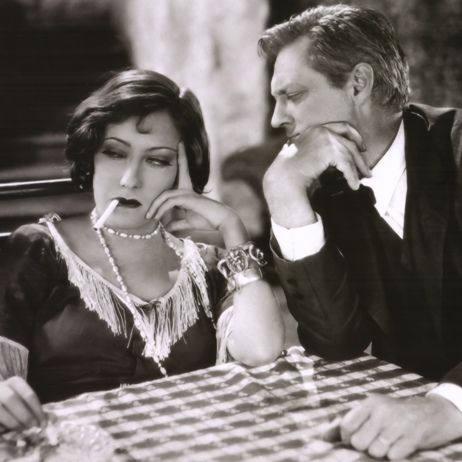Gloria Swanson and Lionel Barrymore