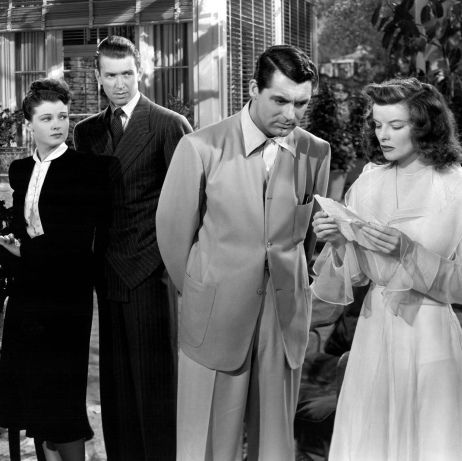 Ruth Hussey, James Stewart, Cary Grant and Katharine Hepburn