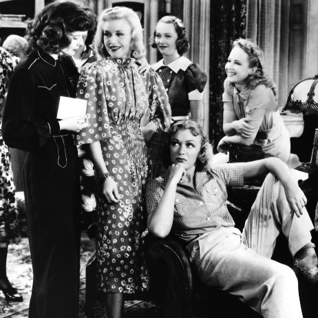 Ginger Rogers, Katharine Hepburn, Eve Arden and others in Stage Door