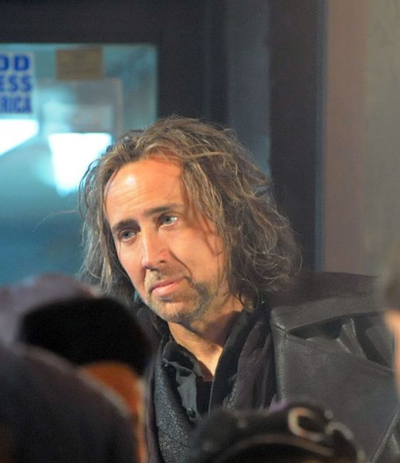 "Nicolas Cage On Location For ""The Sorcerer's Apprentice"" - April 13, 2009"